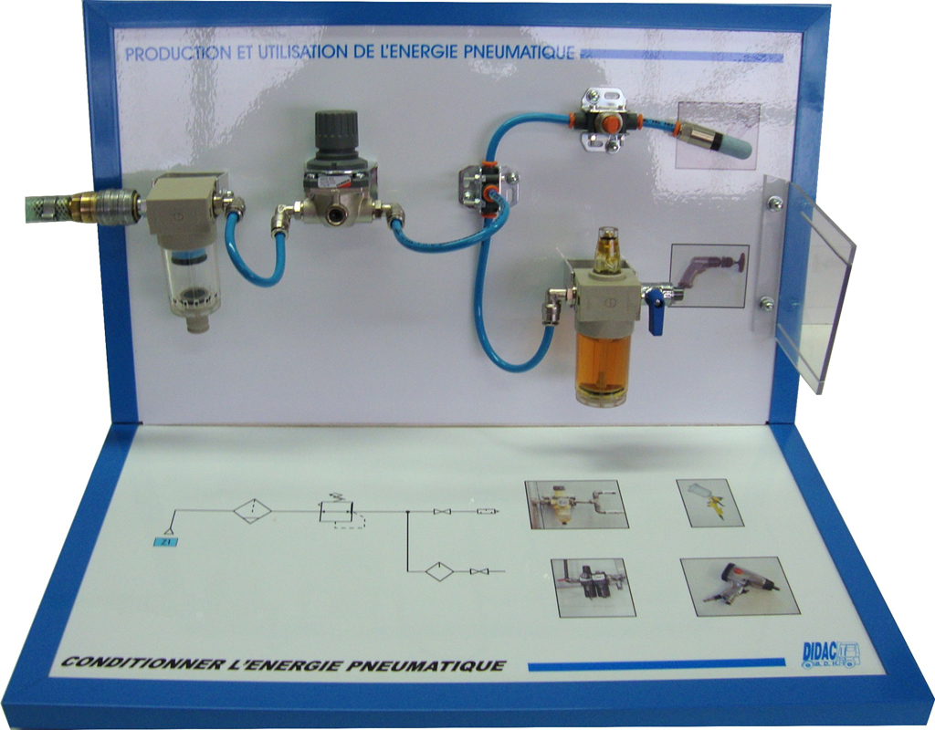 CONDITIONING PNEUMATIC ENERGY Réf: MPH-CEP - DIDAC B D H